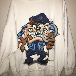 Vintage front/back police officer Taz sweatshirt